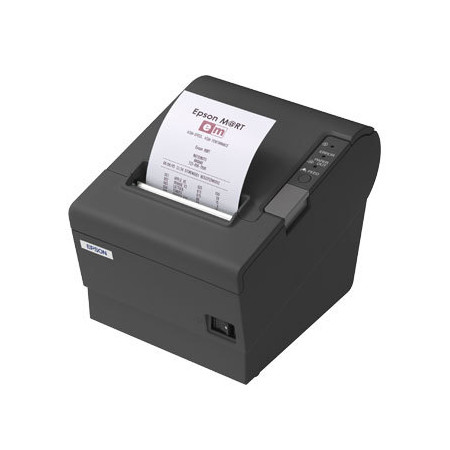 Imprimanta termica SH Epson TM-T88VI neagra, interfata USB si Lan (Ethernet) - Second Hand